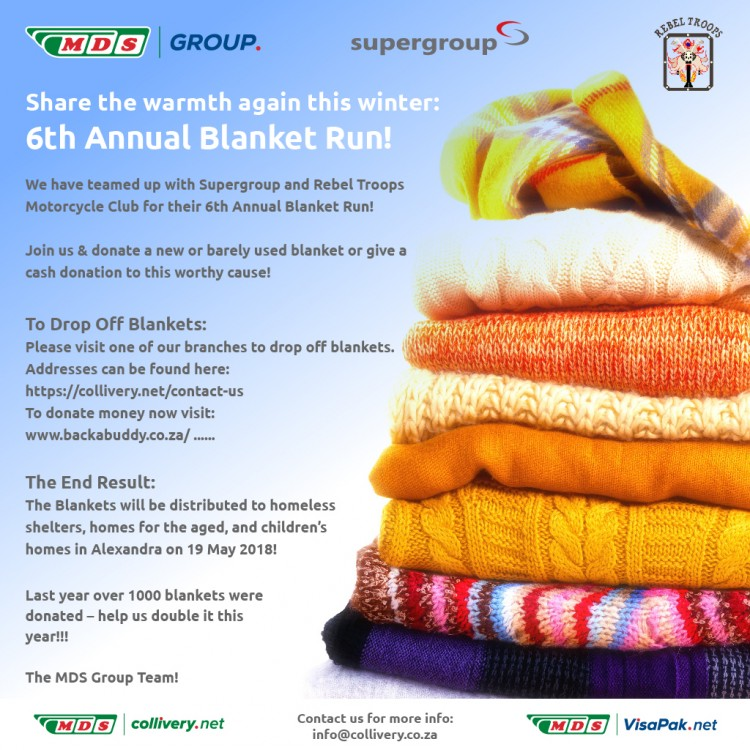 Share the warmth this winter - blanket drive Logo