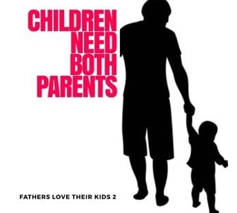 Children need both parents Logo
