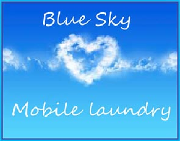 Blue Sky Mobile Laundry Service Cause Logo