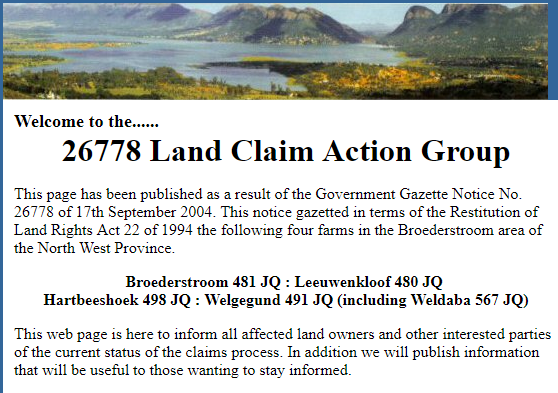 26778 Land Claim Action Cause Logo