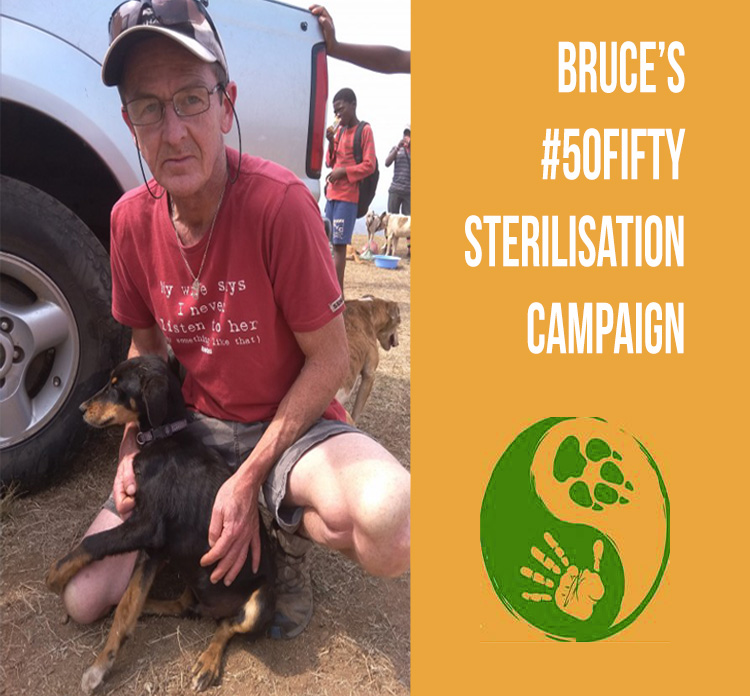 Bruce's #50Fifty Sterilisation Campaign Name
