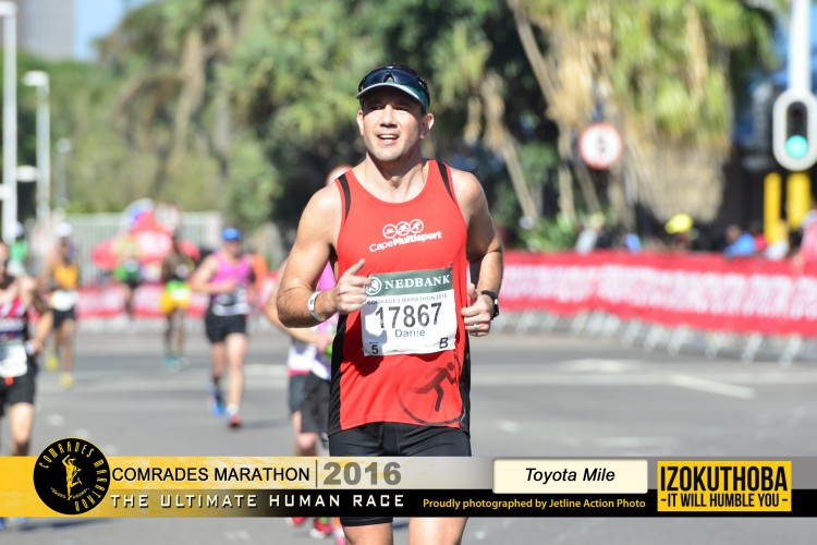 Danie Bruwer running Two Oceans and Comrades 2019 for children with ADHD