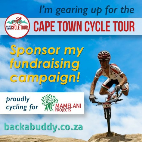 Haneef's Cape Town Cycle Tour 2017 for Mamelani Projects