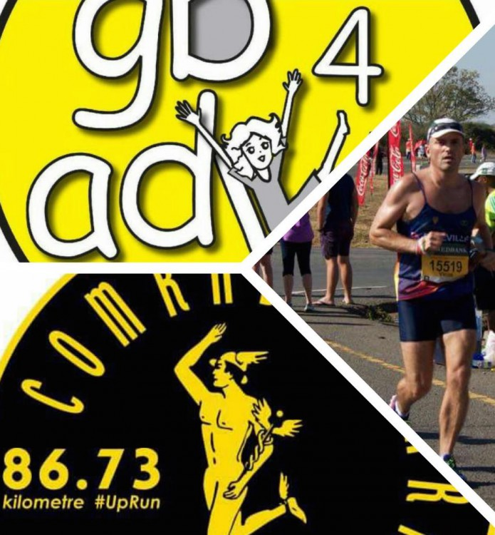 VIcus vd Merwe Running Comrades for Goldilocks and the Bear foundation