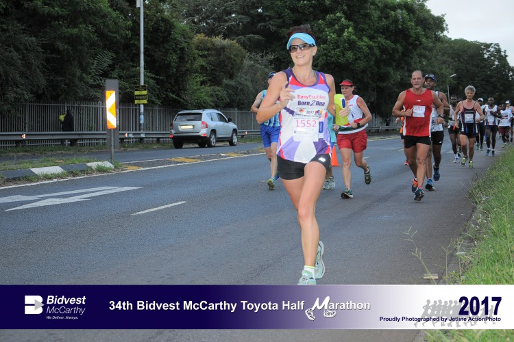 Estelle running Comrades for ADHD Kids