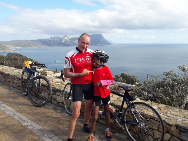 Khanya and Graham Moore - Cycling for Change 2019