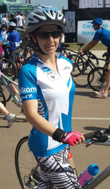 Lea-Anne cycles for #Ride4Smiles