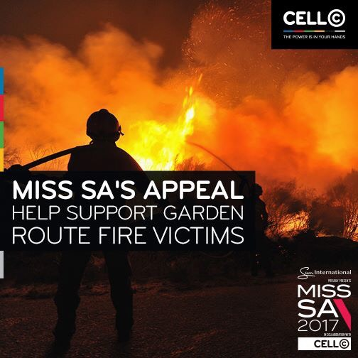 Miss SA's appeal – supporting the Garden Route fires
