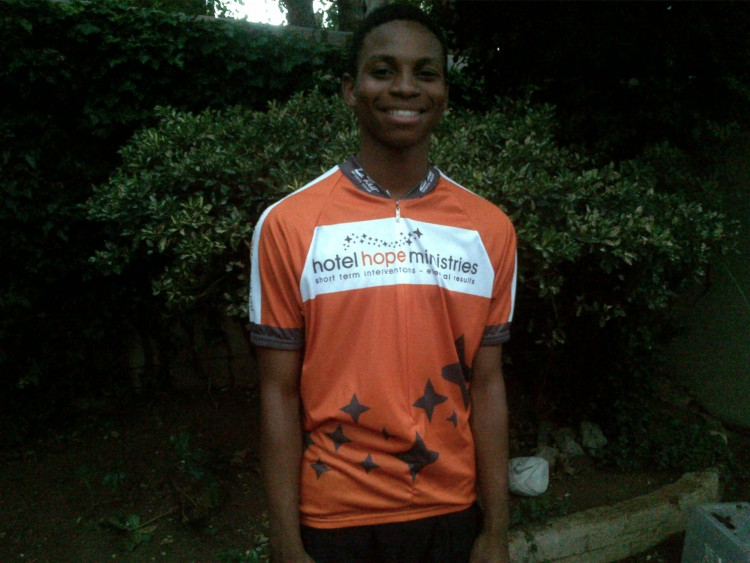 Thapelo rides the 94.7 cycle challenge for Hotel Hope