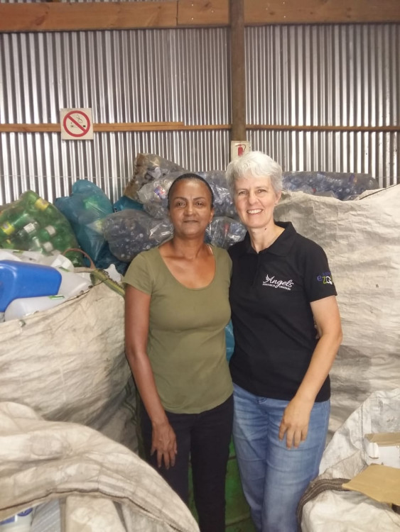 YOLANDA VALENTINE OF FALSE BAY RECYCLING.