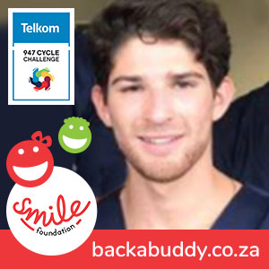 Gavi rides the Telkom 947 for #Ride4Smile