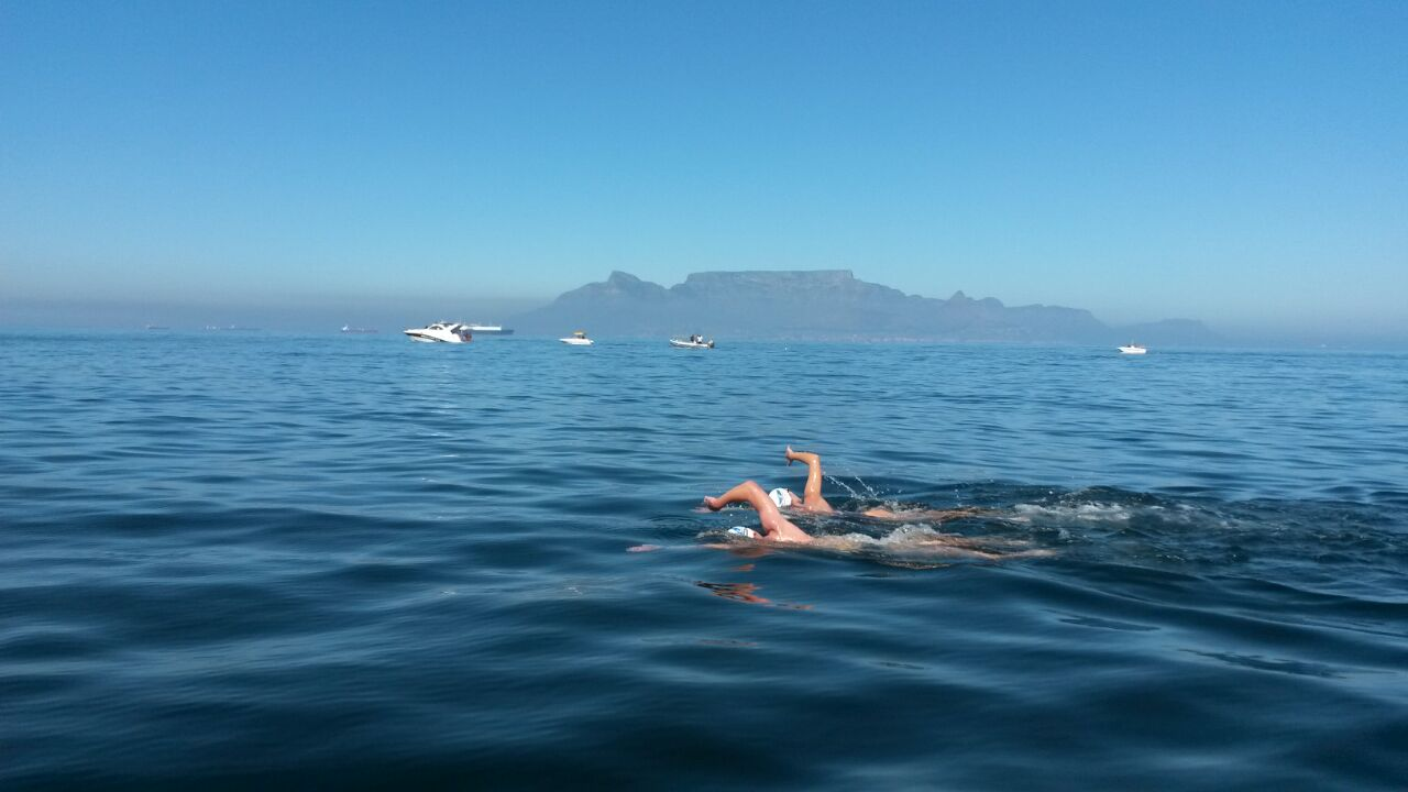 Werner's Swahili Channel swim for charity